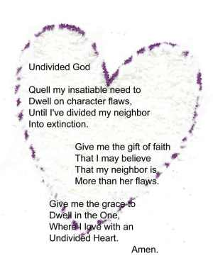 Undivided Heart Prayer
