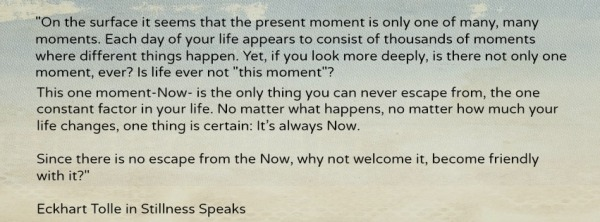 Eckhart Tolle The Now