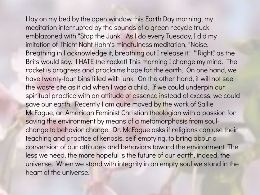 Earth Day Meditation 4-22-2014