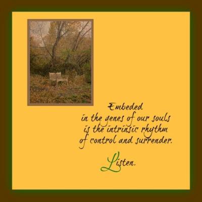intrinsic rhythm of control and surrender
