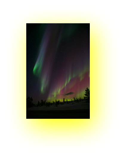 indigo aurora borealis photo pin with shadow