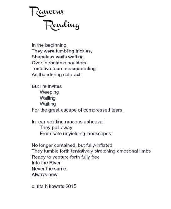 Raucous Rending Poem