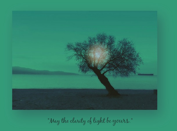 Dawn for O'Donohue poem framed