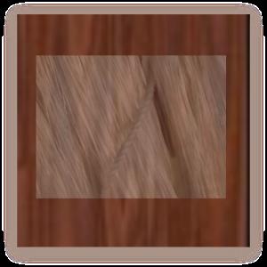 raw silk on uncut wood