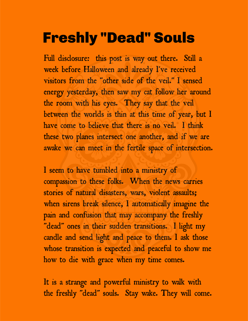 Freshly Dead Souls narrative