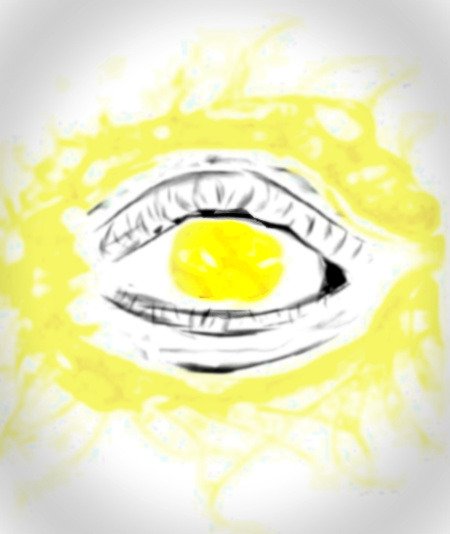 light in eye